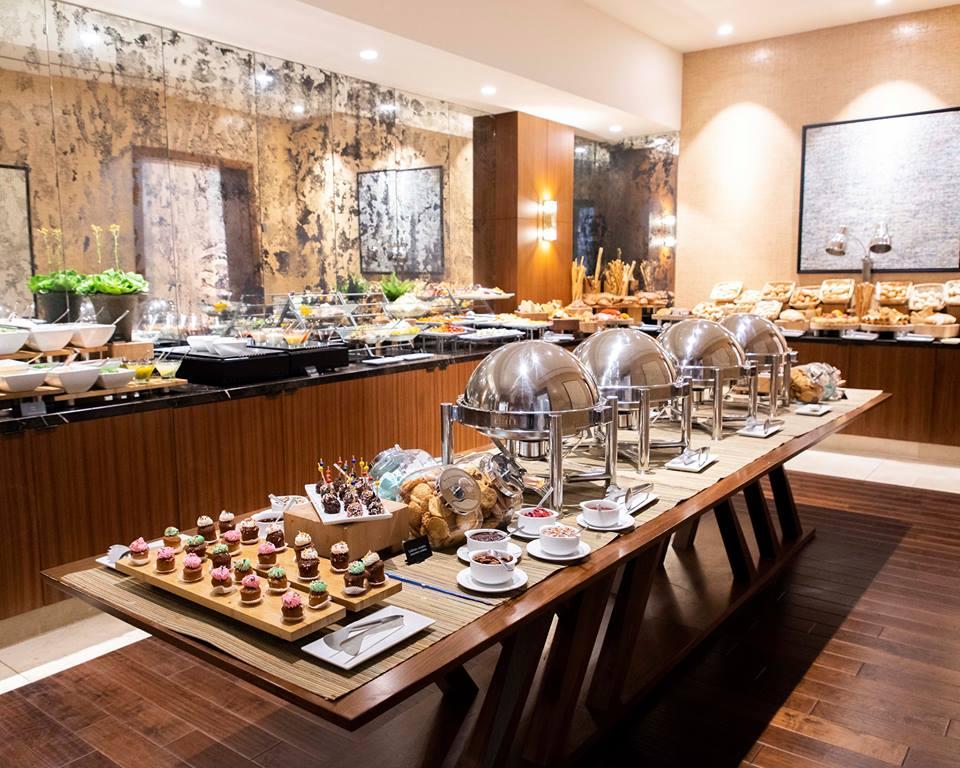 santa maria hotel sunday buffet set up showing food