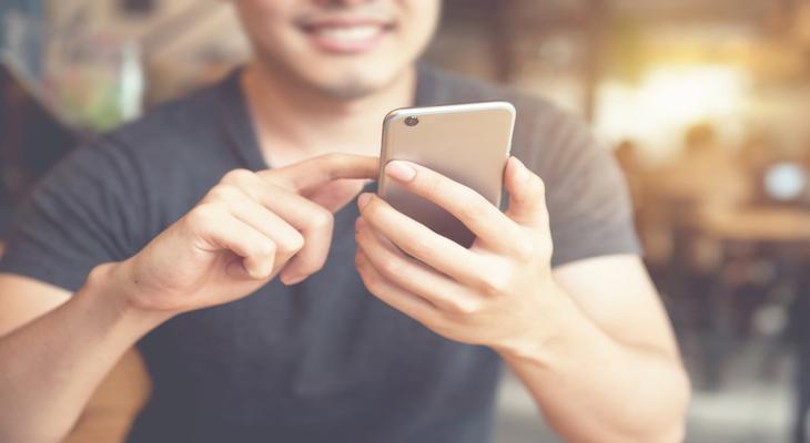 man-using-phone-app