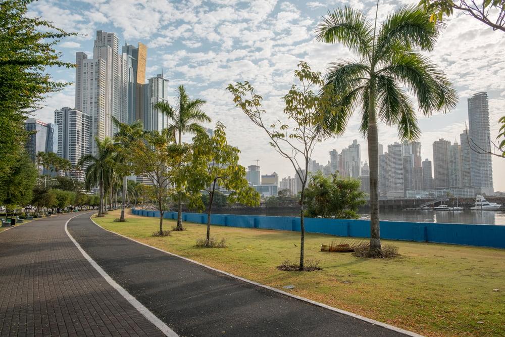 Avenida Balboa neighborhood in panama