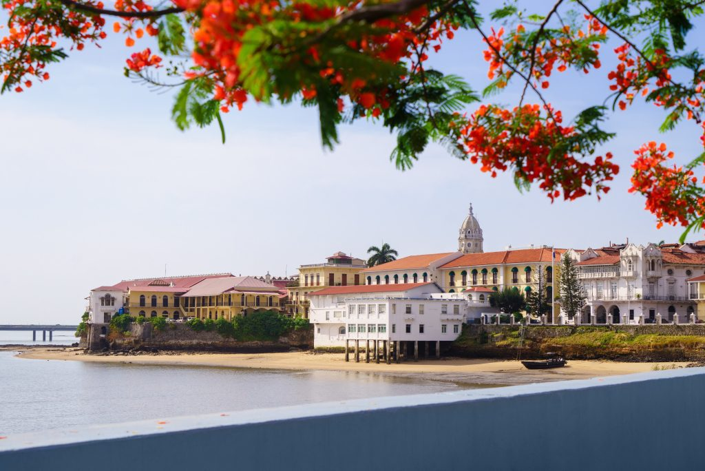 View of beautiful Casco Viejo in Panama City.