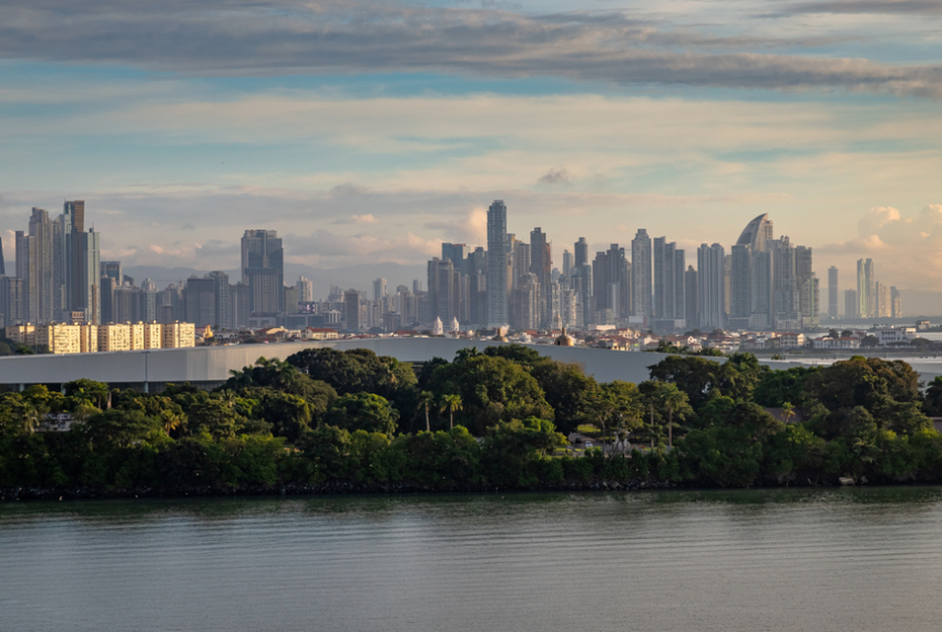 View From A Cruise Ship Of The Panama,City