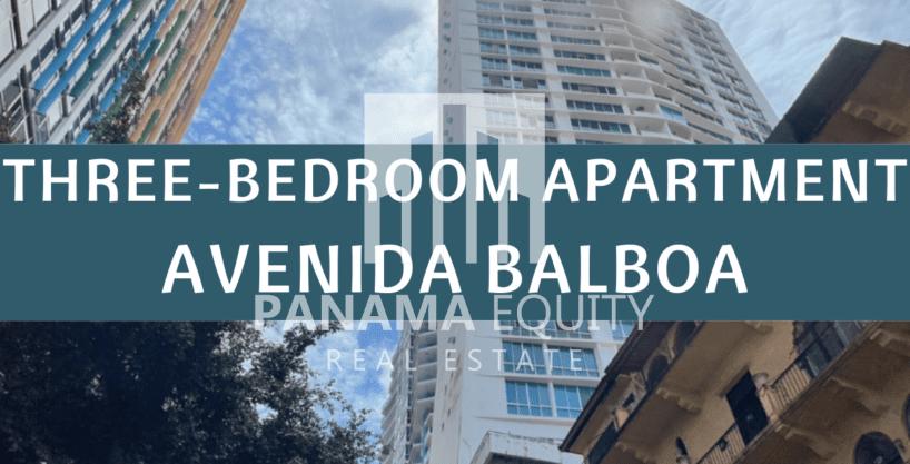 Three-Bedroom Apartment for rent in Marina Park Avenida Balboa with Amazing Views
