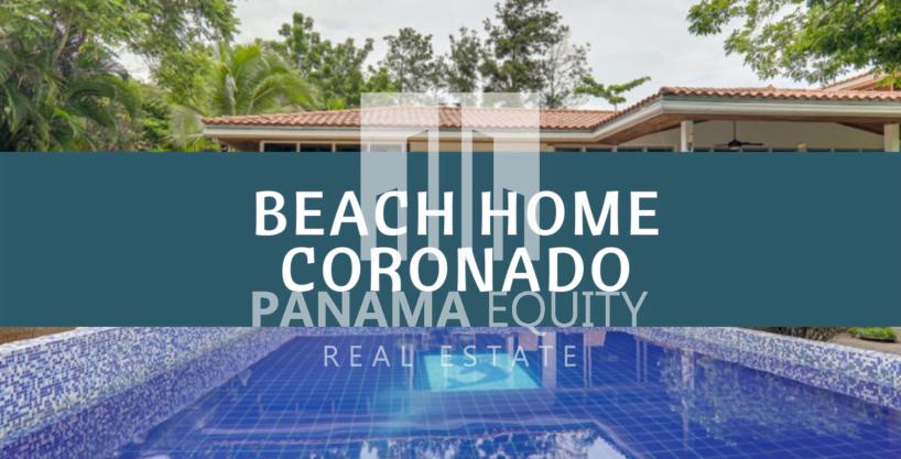 Beach Home For Sale On A Quiet Street in Coronado Panama