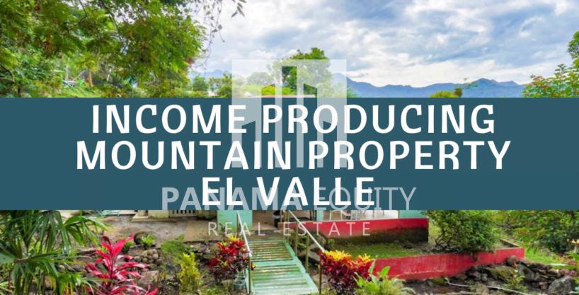 Propiedad de montaña productora de ingresos a la venta en El Valle
